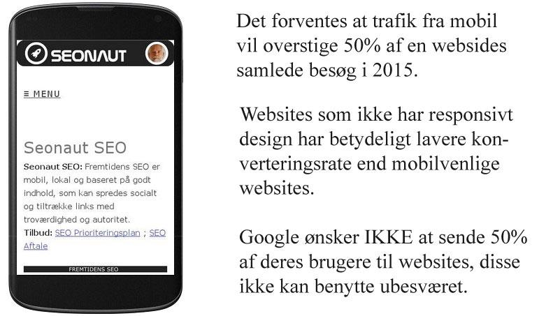 Google mobilvenlig visning